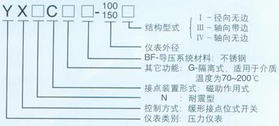 YX-100B-F-Z不锈钢耐震压力表