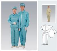 防靜電分體服 反領分體服藍色