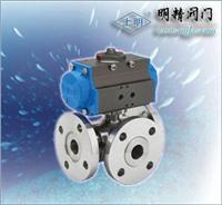 氣動調節型三通球閥 SMQ644(45)型