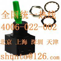 進口帶燈鈕子開關型號TL22DFAW015F發光扭子開關NKK綠色LED帶燈搖頭開關 TL22DFAW015F