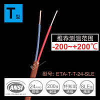 熱電偶測溫線T型 ETA-T-T-24感溫線溫度傳感器