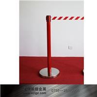 红色金属栏杆座配红白警戒隔离带 LG-H