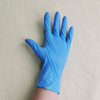 Disposable powder-free blue nitrile gloves