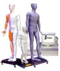 針灸模型|光電感應多媒體人體針灸穴位發光模型    MAW-170E