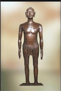 針灸銅人|仿古針灸銅人|銅人針灸模型(真銅全銅 170CM **型) ZTR-003