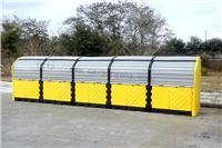 户外重型20桶卷帘式硬顶防渗漏隔间 CN9656,CN9657