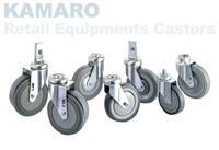 日本KANATSU静音KAMARO零售设备用脚轮
