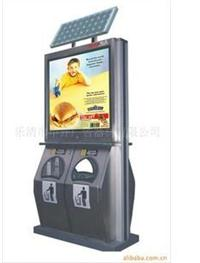 供应太阳能灯箱 太阳能广告垃圾箱箱