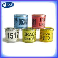 2012 new style all colors aluminium plastic pigeon rings GSF-APPR
