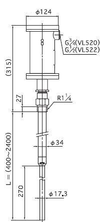 日本NOHKEN防爆型VL522N/VL522F振動式物位檢測器