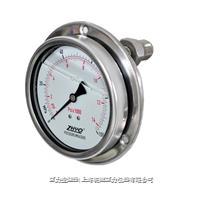 耐振型軸向安裝隔膜壓力表