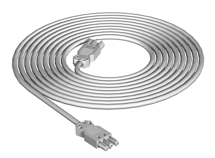 3-wire connection cable, PVC, cross-section 2.5 mm²