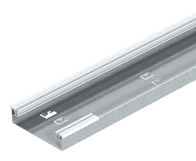 On-floor installation trunking, trunking height 40 mm