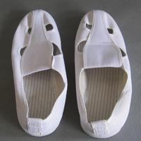 蓝色无尘室帆布四孔鞋 多种