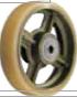 HAMMER CASTER 精密脚轮  金属板型502BPS CU 200mm尿烷车轮400-500daN HAMMER CASTER 502BPS CU 200mm 400 500daN