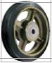 HAMMER CASTER 精密脚轮  金属板型502BPS CR 200mm橡胶车轮400-500daN HAMMER CASTER 502BPS CR 200mm 400 500daN