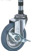 HAMMER CASTER 精密脚轮   插入插头型415EX-PR 60,75,100-150mm带止动器25-60daN HAMMER CASTER 415EX PR 60 75 100 150mm 25 60daN