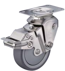 HAMMER CASTER 精密脚轮  全不锈钢脚轮935BBE-BLB 100mm带止动器 HAMMER CASTER 935BBE BLB 100mm