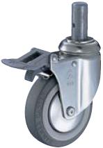 HAMMER CASTER 精密脚轮  插入轮毂型915MK-KUB 100-150mm带整体锁 60-100daN HAMMER CASTER 915MK KUB 100 150mm 60 100daN