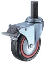HAMMER CASTER 精密脚轮  插入轮毂型415MK-RB 75-125mm带整体锁 60-100daN HAMMER CASTER 415MK RB 75 125mm 60 100daN