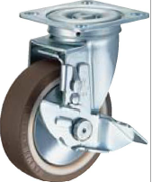 HAMMER CASTER 精密脚轮  金属板型413S-UB   100-150mm  带止动器60-220daN HAMMER CASTER 413S UB 100 150mm 60 220daN