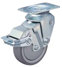 HAMMER CASTER 精密脚轮  尿烷缓冲脚轮935BBE-BLB 100mm带滚柱轴承 止动器 HAMMER CASTER 935BBE BLB 100mm