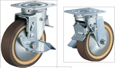 HAMMER CASTER 精密脚轮  方向控制型413FOS-UB 100-150mm带整体锁 120-220daN HAMMER CASTER 413FOS UB 100 150mm 120 220daN
