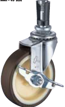 HAMMER CASTER 精密脚轮  插入插头型415EU-UR 40-125mm带止动器25-60daN