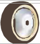 HAMMER CASTER 精密脚轮   金属板型439S UB 125,150mm尿烷车轮140-220daN