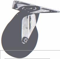 HAMMER CASTER 精密脚轮   角金属板型220E-R 100,125mm 30-60daN