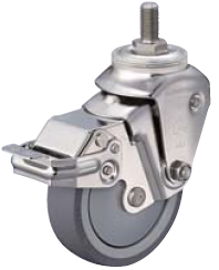 HAMMER CASTER 精密脚轮  全不锈钢脚轮935BEA-BLB 100mm带止动器