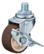 HAMMER CASTER 精密脚轮  轻荷重螺纹旋入脚轮415A-UR 40-75mm带止动器 15-50daN