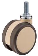 HAMMER CASTER 精密脚轮   树脂制双轮705K-FA2 100,125mm浅棕色100daN