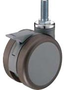 HAMMER CASTER 精密脚轮   树脂制双轮706K-FA1 100,125mm灰色带整体锁100daN