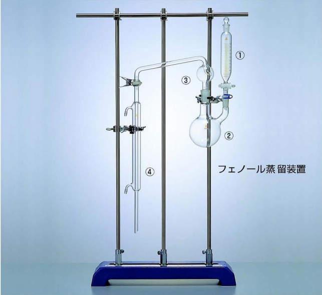 三商 sansyo フェーノール蒸留装置用 二ッ口フラスコ 500ml sansyo