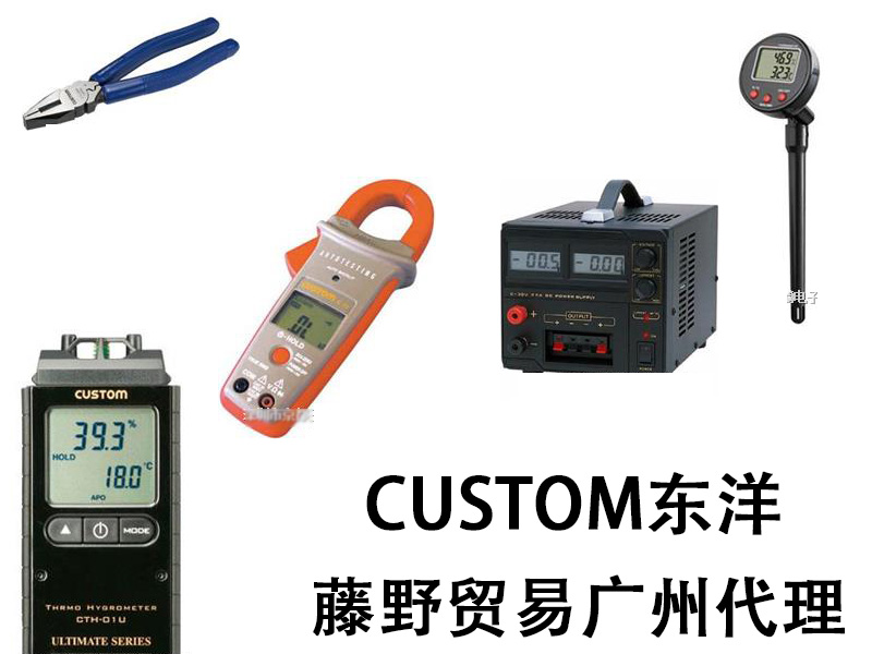 东洋广州代理 CUSTOM 数字温湿度计 CTH-1100 CUSTOM CTH 1100