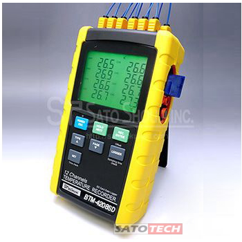 富装金莎代理 FUSO12通道温度记录仪(支撑SD卡) BTM-4208SD FUSO12 SD BTM 4208SD