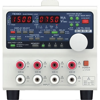 德仕 TEXIO  LW75-151QV7A 多输入电子负荷装置7W2ch前面、背面输入 TEXIO LW75 151QV7A 7W2ch