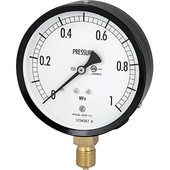 长野计器 NKS AC20-181 25MPa 普通型压力计(A框架立形R 38)75Φ NKS AC20 181 25MPa A R 38 75