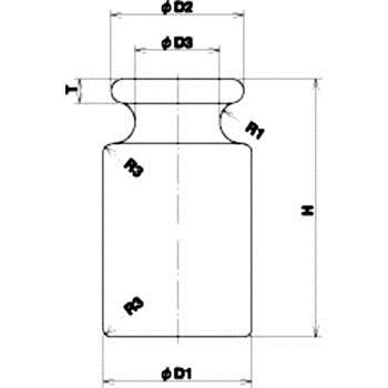 村上衡器 MURAKAMIKOKI  2g OIm型标准分铜(JIS标记)M2级圆筒型 MURAKAMIKOKI 2g OIm JIS M2